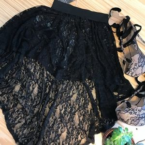 """Urban Outfitters """"One & Only"""" lace hi low skirt"""